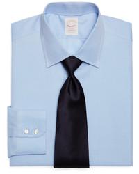 Brooks Brothers Golden Fleece All Cotton Regular Horizontal Twill Luxury Dress Shirt