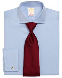 Brooks Brothers Golden Fleece Madison Fit Herringbone French Cuff Dress Shirt