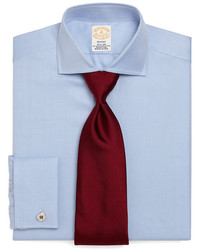 Brooks Brothers Golden Fleece Regent Fit Herringbone French Cuff Dress Shirt