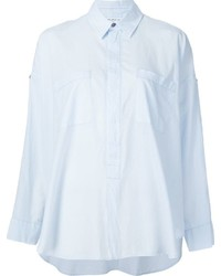 Helmut Lang Cold Shoulder Detail Shirt