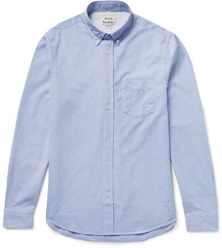 45055c342d1 ... Light Blue Dress Shirts Acne Studios Isherwood Slim Fit Button Down  Collar Cotton Oxford Shirt ...