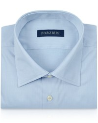 Forzieri Light Blue Cotton Dress Shirt