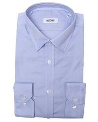 Moschino Light Blue Cotton Point Collar Dress Shirt