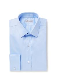 Charvet Light Blue Slim Fit Cotton Shirt