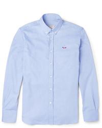 MAISON KITSUNÉ Maison Kitsun Slim Fit Button Down Collar Cotton Oxford Shirt