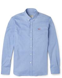 MAISON KITSUNÉ Maison Kitsun Slim Fit Cotton Oxford Shirt