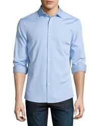 33fca1a267 ... Michael Kors Michl Kors Slim Fit Long Sleeve Oxford Shirt Light Blue