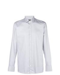 Z Zegna Micro Print Button Down Shirt