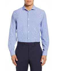 Report Collection Modern Fit Stretch Geometric Dress Shirt