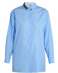 No.21 No 21 Embellished Collar Cotton Shirt