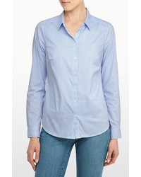 NYDJ Fit Solution Button Front Stripe Shirt
