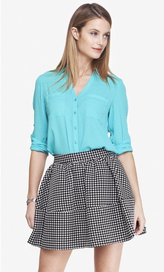fe8c6fed42304 Express Original Fit Convertible Sleeve Portofino Shirt