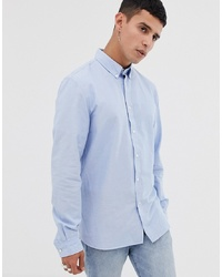Lacoste Oxford Shirt In Blue