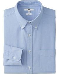 Uniqlo Oxford Slim Fit Long Sleeve Shirt