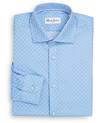 Robert Graham Solomon Geometric Cotton Dress Shirt