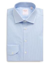 Thomas Pink Slim Fit Check Twill Button Up Dress Shirt