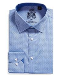 English Laundry Slim Fit Dot Dress Shirt
