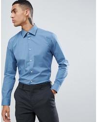 Esprit Slim Fit Stretch Smart Shirt In Powder Blue