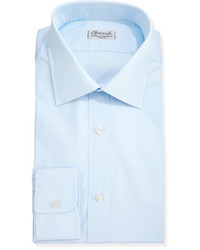 Charvet Solid Poplin Dress Shirt Light Blue