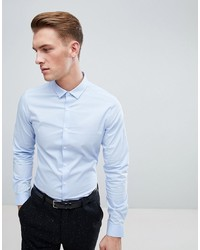 ASOS DESIGN Stretch Slim Formal Work Shirt In Blue
