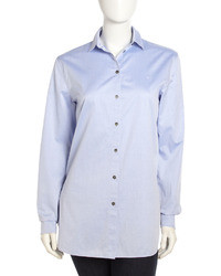 Alexander Wang T By Cotton Oxford Shirt Light Blue
