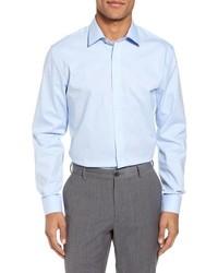 Nordstrom Men's Shop Tech Smart Trim Fit Stretch Pinpoint Dress Shirt