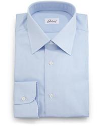 Brioni Textured Solid Dress Shirt Light Blue