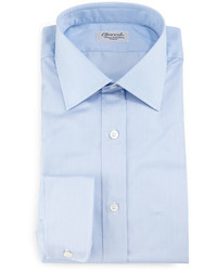 Charvet Thin Striped Dress Shirt Light Blue