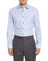 David Donahue Trim Fit Check Dress Shirt
