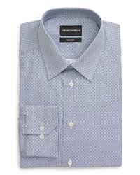 Emporio Armani Trim Fit Diamond Dress Shirt