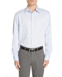 Emporio Armani Trim Fit Dot Dress Shirt
