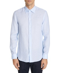 Emporio Armani Trim Fit Linen Dress Shirt