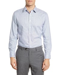 The Tie Bar Trim Fit Micro Houndstooth Dress Shirt