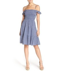 Tory Burch Cabarita Smocked Cover Up Dress