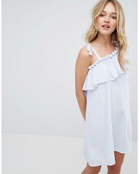 Monki One Shoulder Ruffle Swing Dress