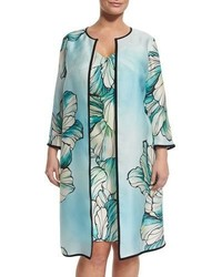 Marina Rinaldi Tropico Flower Print Coat Plus Size