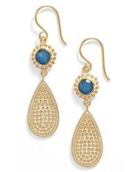 Blue quartz double drop earrings medium 3692364