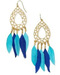 Feather drop earrings medium 4065295