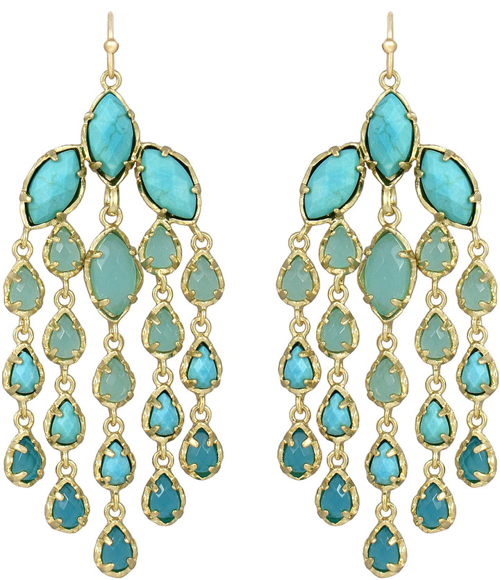 Freesia Chandelier Earrings Turquoise