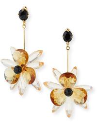 Kate Spade New York Crystal Flower Drop Earrings