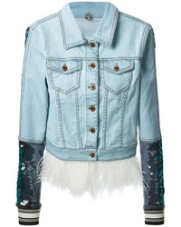 Aviu U Sequin Embellished Denim Jacket