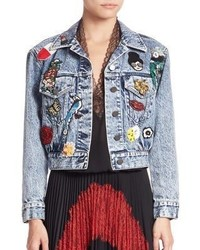 Alice + Olivia Chloe Embellished Denim Jacket