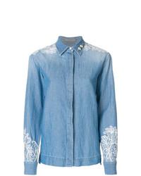 Ermanno Scervino Embellished Denim Shirt