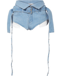MARQUES ALMEIDA Belted Fold Over Denim Shorts