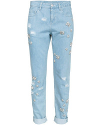Light Blue Embellished Jeans
