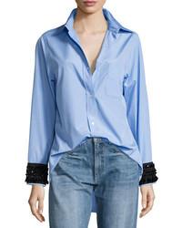 No.21 No 21 Hortensia Embellished Cuffs Button Front Shirt