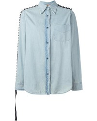 No.21 No21 Embellished Denim Shirt