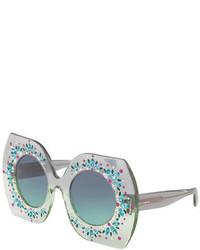 Dolce & Gabbana Embellished Round Sunglasses