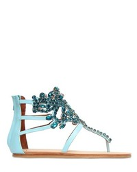 Jeffrey campbell 10mm jeweled leather sandals medium 186718