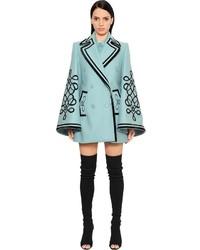 Elie Saab Velvet Embellished Wool Cashmere Coat
